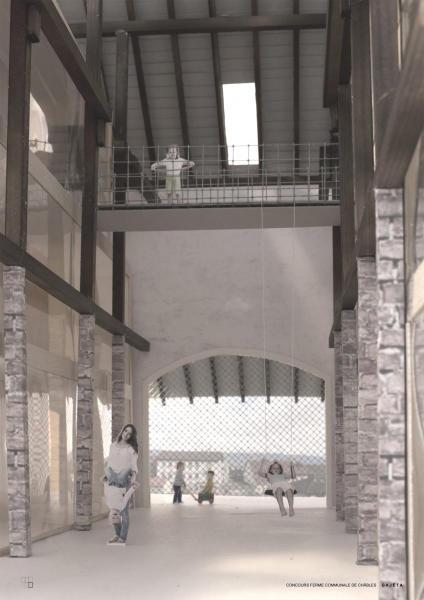 perspective du projet lauréat GAJÈTA (©Chablais Fischer Architectes Sàrl)