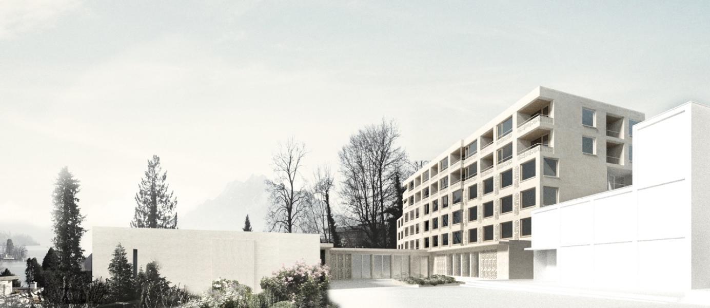 Visualisierung vom Siegerprojekt «SPIRO», Masswerk Architekten AG, Luzern (Visualisierung: Projektverfassende)