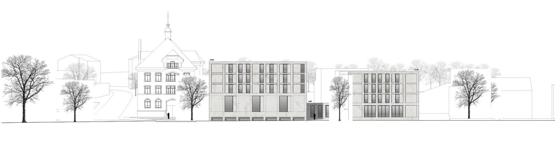 Siegerprojekt vicinia von Leismann, Ansicht Im Grund (Plan: Projektverfassende)
