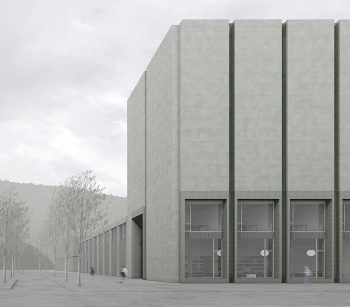 1. Rang «Chimära» von Franziska und Sebastian Müller Architekten, vorne (Visualisierung: Projektverfasser)