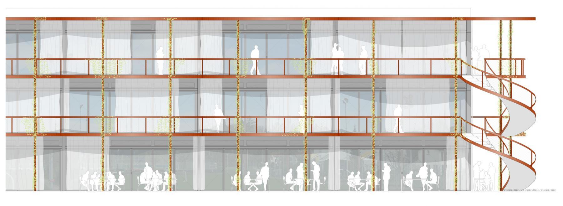 Siegerprojekt Grosser Bär von Schneider Studer Primas, Fassade (Plan: Projektverfassende)