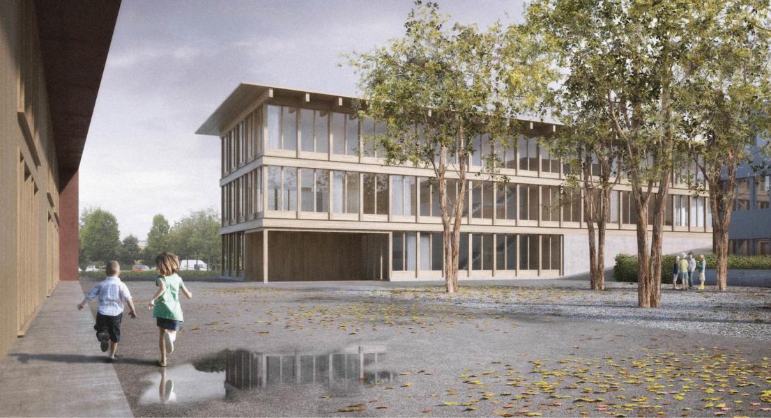 Siegerprojekt Strichpunkt von Peter Moor Architekt (Visualisierung: Projektverfassende)