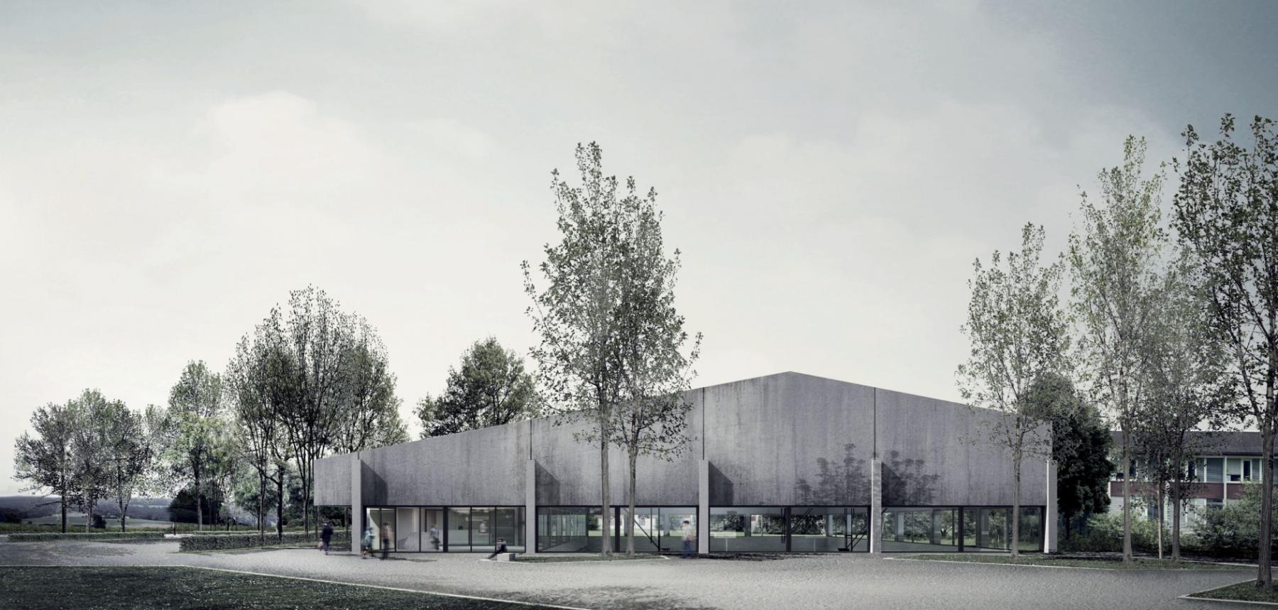 Siegerprojekt Louis Zutter von E2A Piet Eckert und Wim Eckert (Visualisierung: Projektverfassende)