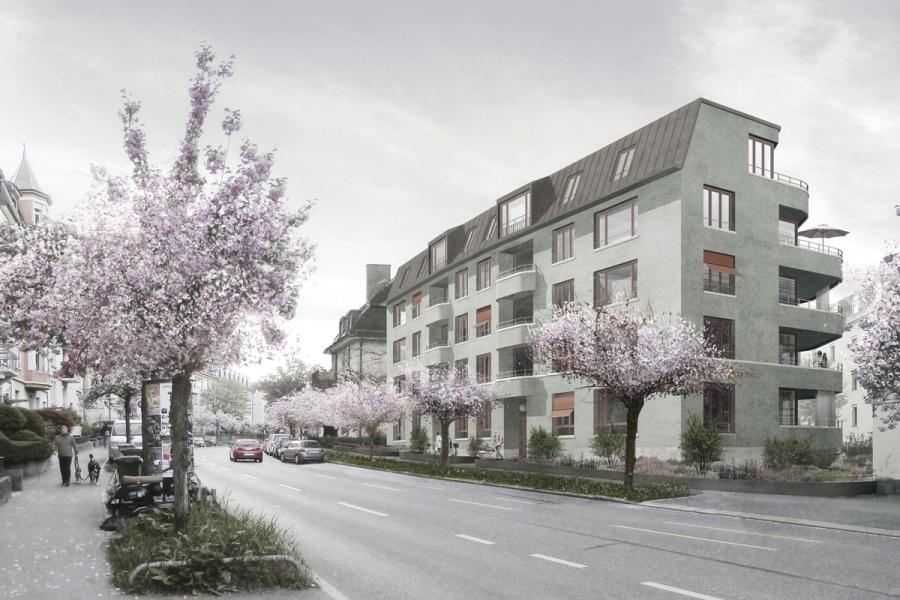 1. Rang «La Tulipe» von Haltmeier Kister Architektur (Visualisierung: Projektverfassende)
