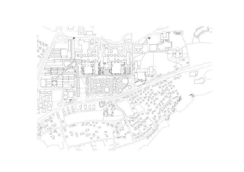 Procédure de mandats d'étude parallèles pour le bâtiment RTS sur le campus EPFL, remportée par l'Office Kersten Geers David Van Severen, Bruxelles et le bureau Bas Smets, Bollinger + Grohmann