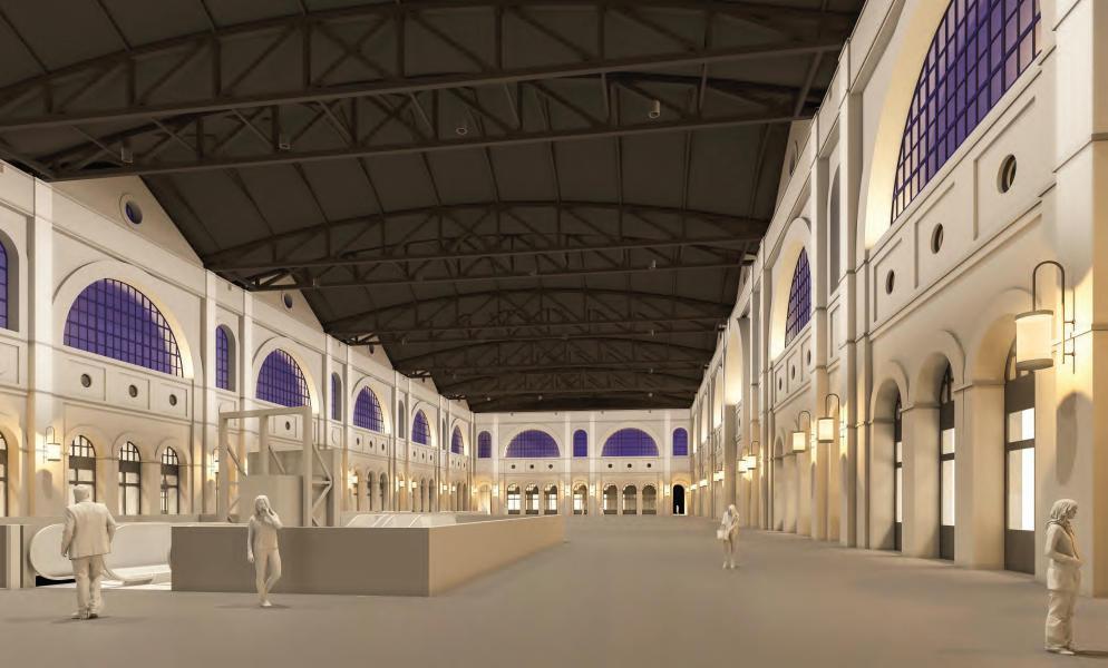 Siegerprojekt «City Lights», Haupthalle (Visualisierung: lichtgestaltende ingenieure vogtpartner)