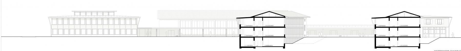Siegerprojekt Sequel von Back Architekten, Südwestfassade (Plan: Projektverfassende)