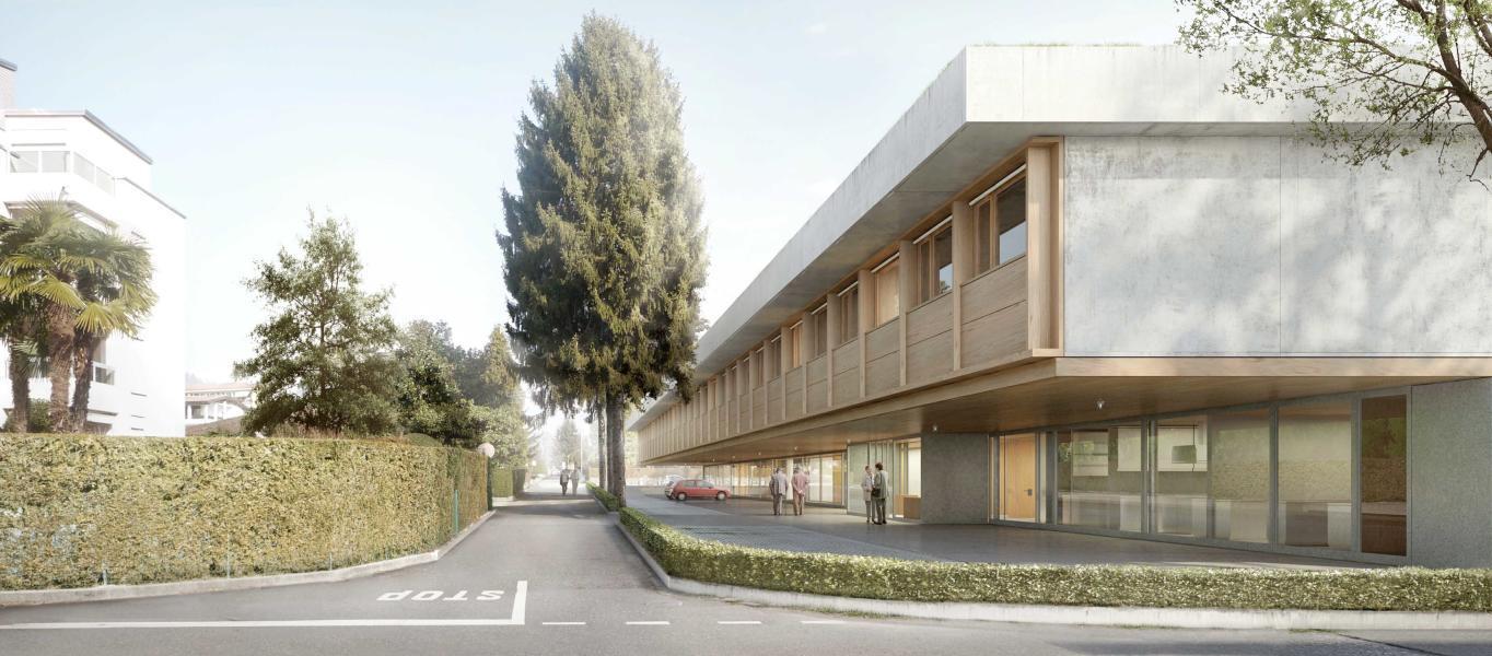 Nuova casa anziani di Caslano (Visualizzazione: Traccia, Silvia Barrera Meili)