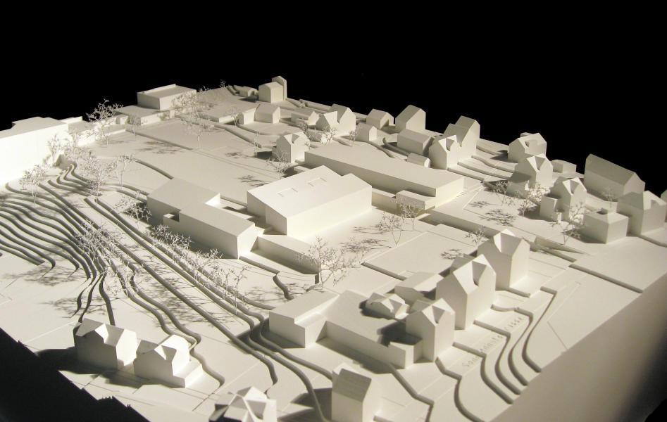 Siegerprojekt terrain von Architekt Matthias Bär ZT (Modellfoto: Ausloberin)