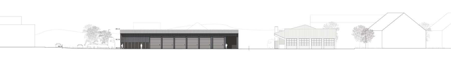 1. Rang «tsiagalhüta» von lilin architekten, Ostansicht (Plan: Projektverfassende)