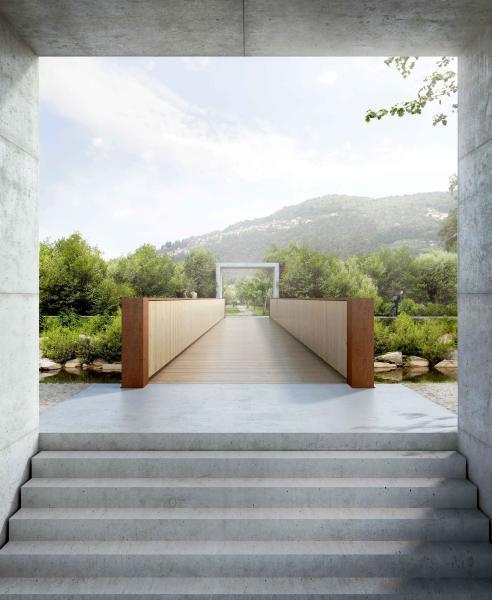 Nuova passerella ciclopedonale sul Vedeggio. (Visualizzazione: «UP», Studio Bonetti e Bonetti architetti)