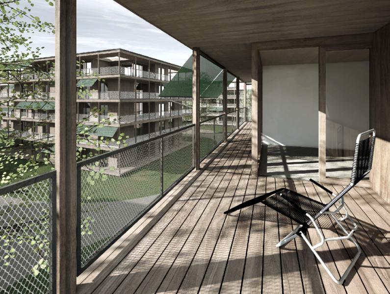 Siegerprojekt «Veranda» von Lütolf und Scheuner Architekten (Visualisierung: Projektverfasser)