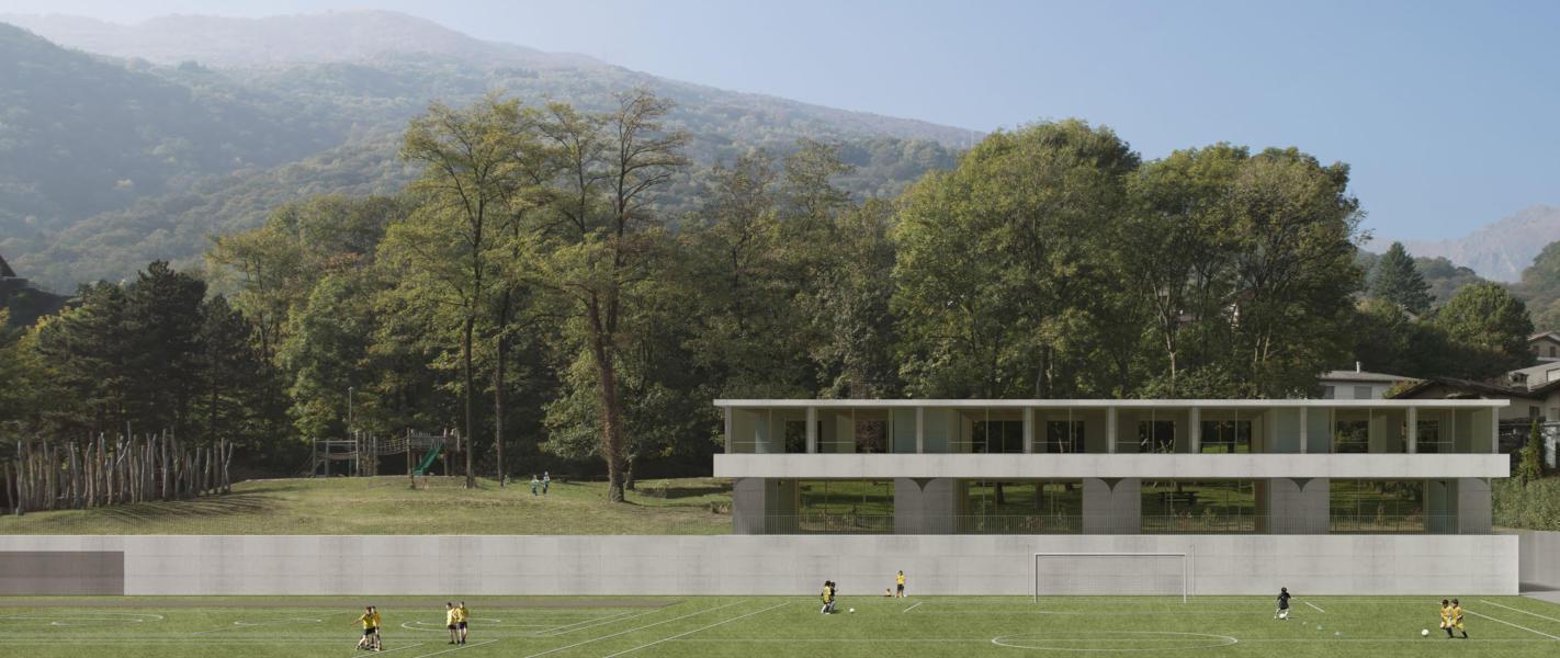1. rango / 1. premio «treLinee» (Visualizzazione: Celoria Architects)