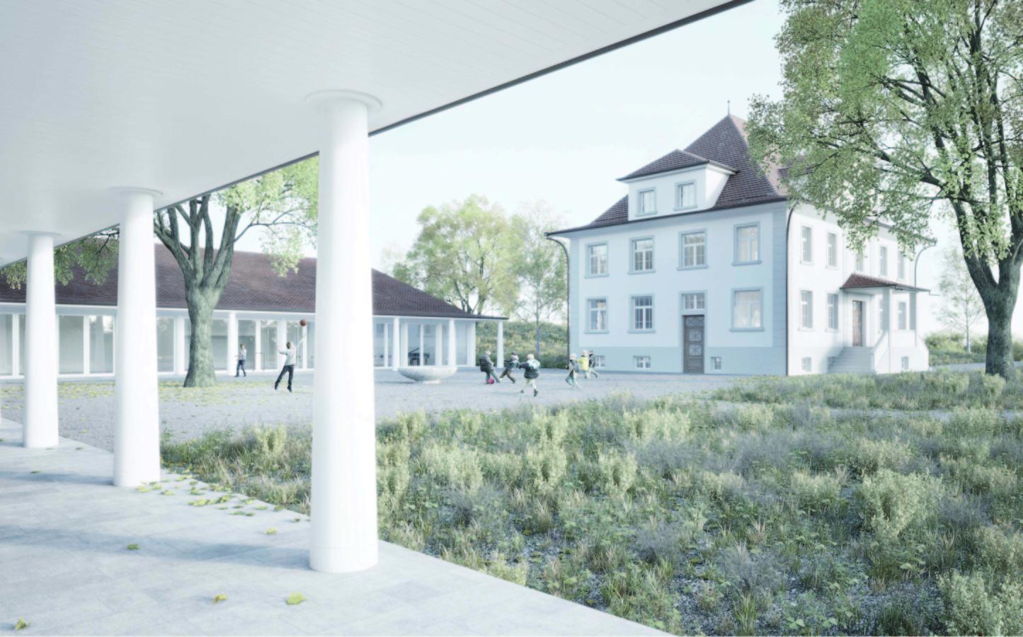 Siegerprojekt Pusteblume von ARGE Thomas De Geeter Architektur / Baumanagement bosshard und partner (Visualisierung: Projektverfassende)