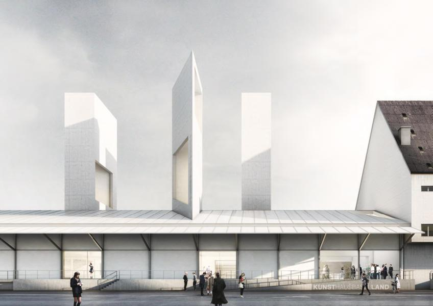 Siegerprojekt «Tangram»: Die Türme sind ebenso Teil des Tragwerks wie Zeichen für den Aufbruch. (Visualisierung: Buchner Bründler Architekten)