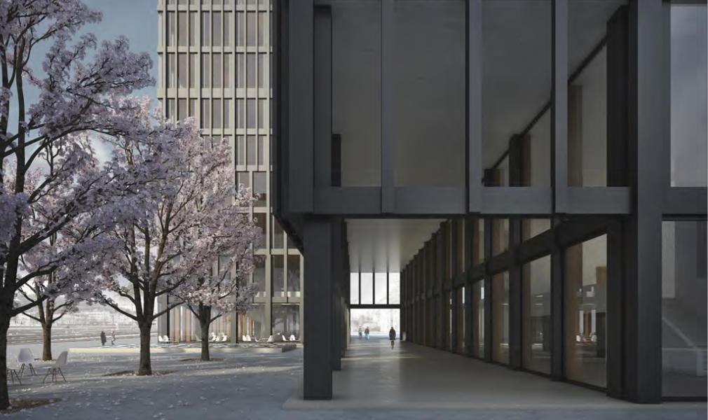 Visualisierung vom Siegerprojekt «Peripteros», ARGE Büro Konstrukt & Manetsch Meyer, Luzern (Visualisierung: Projektverfassende)